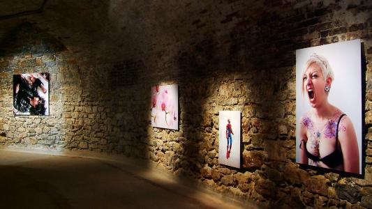 <b>La grenade</b>, exhibition view, Fort Napoléon, Galerie La Tête d'Obsidienne, La Seyne-sur-Mer, 2010