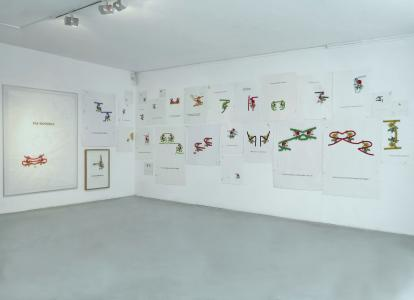 <b>Eponym</b>, exhibition view, with Gerald Panighi (guest Caroline Rivalan), L'Arteppes, Annecy, 2014