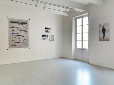 <b>Le fil du rasoir</b>, vue de l'exposition, Galerie Martagon, Malaucène, 2014